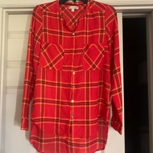 Button down plaid top small